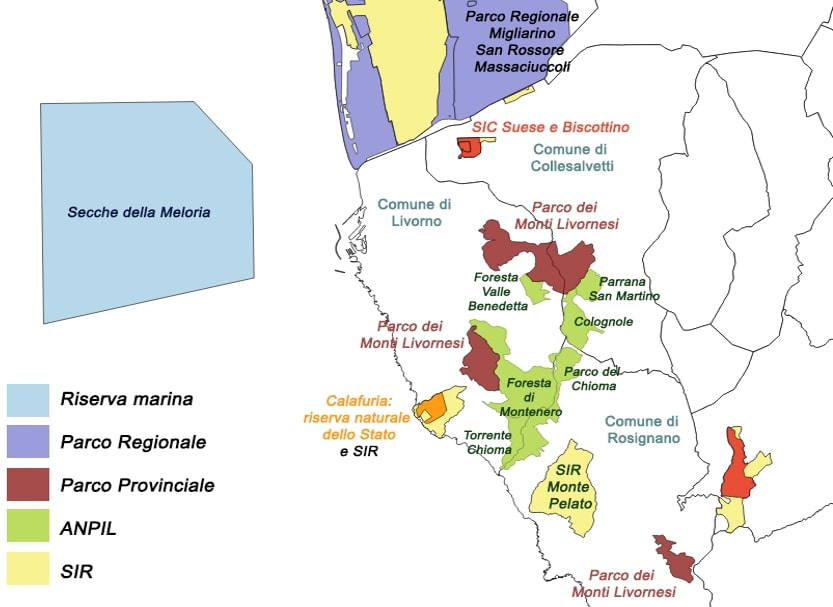 Mappa aree protette